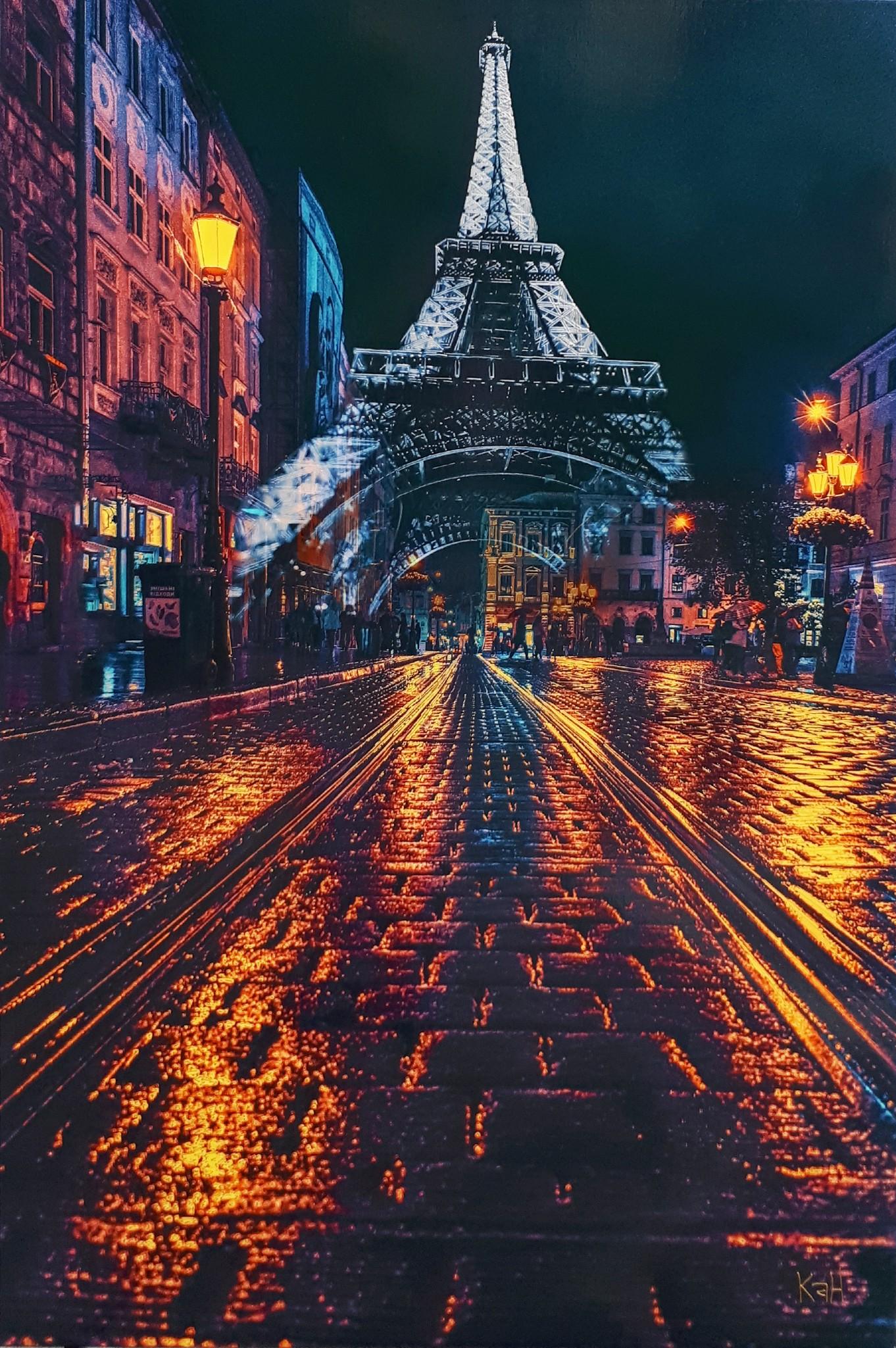 Tour Eiffel de nuit 08-2021 48X32